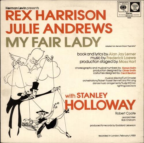 Julie Andrews My Fair Lady vinyl LP album (LP record) UK JARLPMY699027