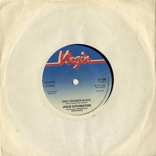 "Julie Covington Only Women Bleed 7"" vinyl single (7 inch record) UK JAO07ON406016"