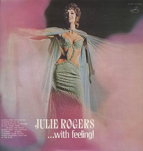 Julie Rogers ... With Feeling vinyl LP album (LP record) Japanese JRELPWI341444