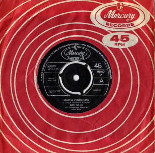 "Julie Rogers Hawaiian Wedding Song - 3 Prong 7"" vinyl single (7 inch record) UK JRE07HA420812"