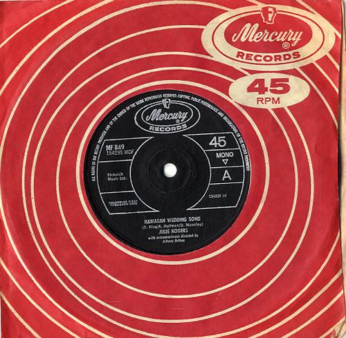 "Julie Rogers Hawaiian Wedding Song - Solid 7"" vinyl single (7 inch record) UK JRE07HA591662"