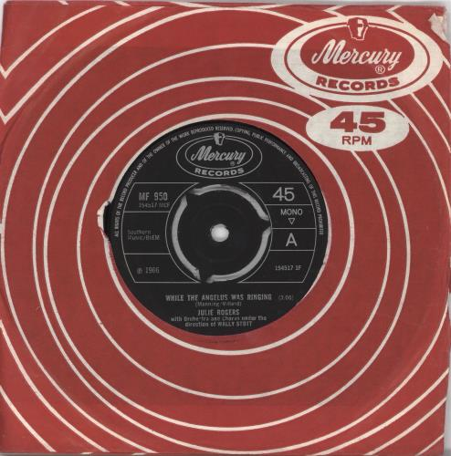 "Julie Rogers While The Angelus Was Ringing 7"" vinyl single (7 inch record) UK JRE07WH709244"