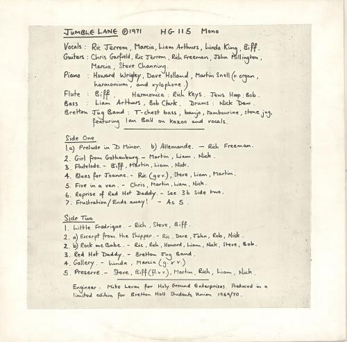 Jumble Lane Jumble Lane vinyl LP album (LP record) UK Q4MLPJU707415