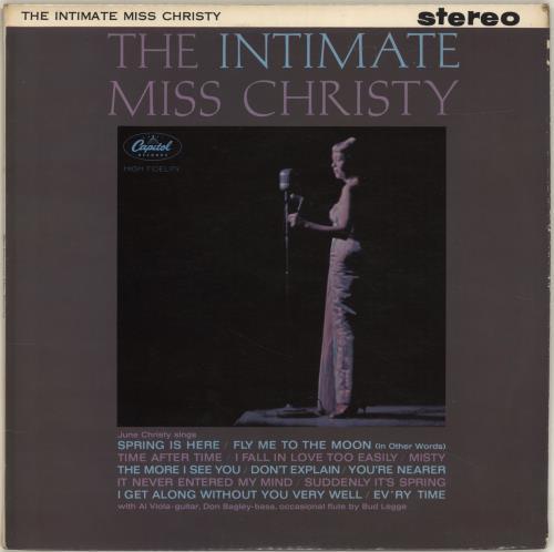 June Christy The Intimate Miss Christy vinyl LP album (LP record) UK JNCLPTH700668