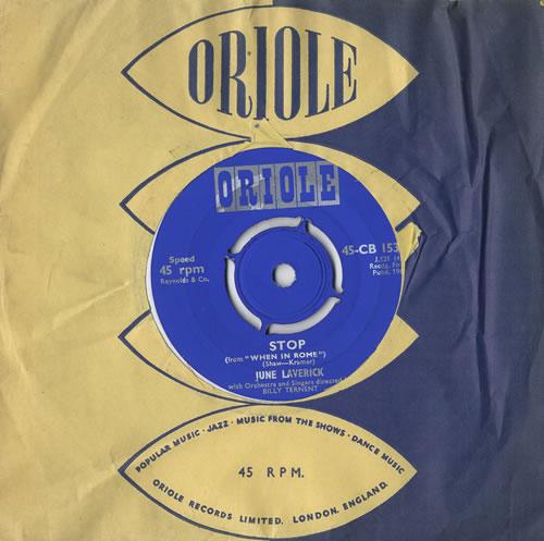 "June Laverick Stop - Split Single With Johnny Webb 7"" vinyl single (7 inch record) UK JL-07ST449309"