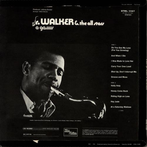 Junior Walker & The All Stars A Gasssss vinyl LP album (LP record) UK JRWLPAG697897