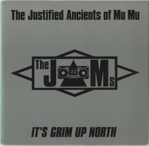 "Justified Ancients Of Mu Mu It's Grim Up North 12"" vinyl single (12 inch record / Maxi-single) UK JMU12IT88304"