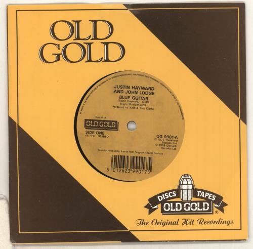 "Justin Hayward & John Lodge Blue Guitar 7"" vinyl single (7 inch record) UK ZV007BL733566"