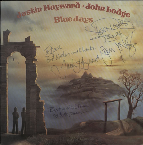 Justin Hayward & John Lodge Blue Jays - Autographed & dedicated vinyl LP album (LP record) UK ZV0LPBL580647