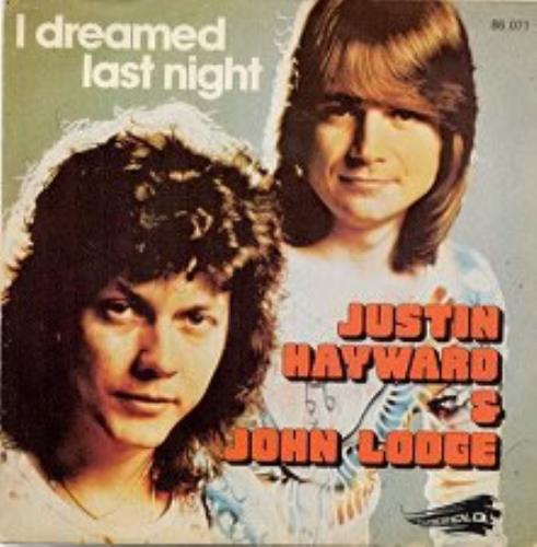 "Justin Hayward & John Lodge I Dreamed Last Night 7"" vinyl single (7 inch record) French ZV007ID153053"