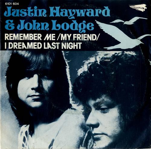 "Justin Hayward Remember Me (My Friend) 7"" vinyl single (7 inch record) Dutch JHW07RE582335"