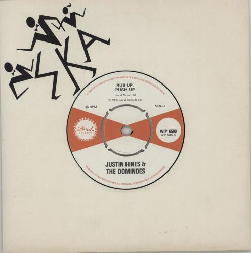 "Justin Hines & The Dominoes Rub Up, Push Up 7"" vinyl single (7 inch record) UK H&D07RU752506"