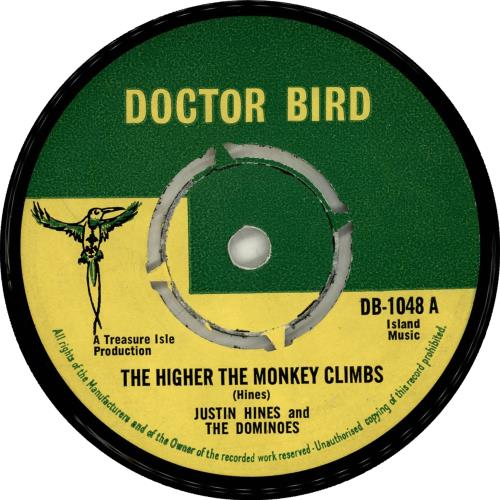 Justin Hines & The Dominoes The Higher The Monkey Climbs vinyl LP album (LP record) UK H&DLPTH705338