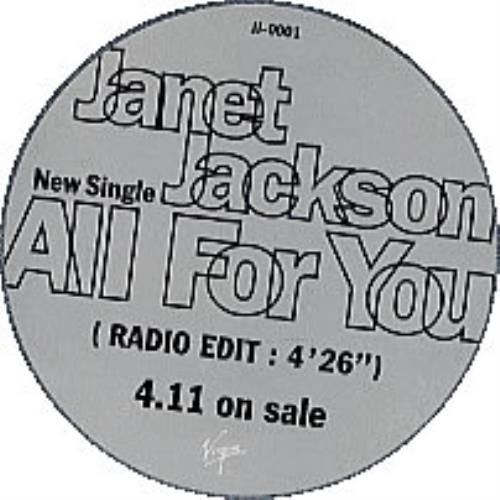 "Janet Jackson All For You - tin case CD single (CD5 / 5"") Japanese J-JC5AL201109"