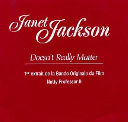 "Janet Jackson Doesn't Really Matter CD single (CD5 / 5"") French J-JC5DO173261"