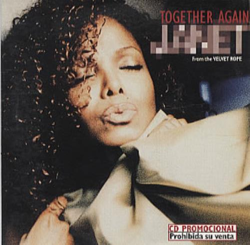 "Janet Jackson Together Again CD single (CD5 / 5"") Colombian J-JC5TO321369"