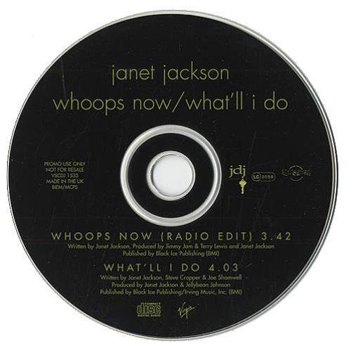 """Janet Jackson Whoops Now CD single (CD5 / 5"""") UK J-JC5WH42501"""