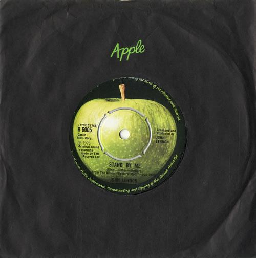"""John Lennon Stand By Me - 2nd - 4pr 7"""" vinyl single (7 inch record) UK LEN07ST296695"""