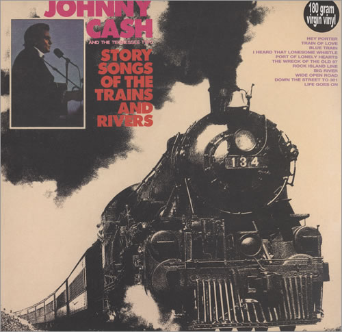 Johnny Cash Story Songs Of The Trains And Rivers vinyl LP album (LP record) UK JCSLPST434775