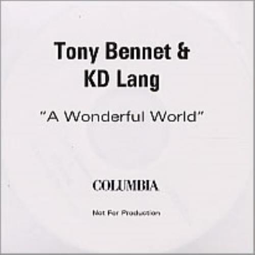 K.D. Lang A Wonderful World CD-R acetate UK KDLCRAW240039