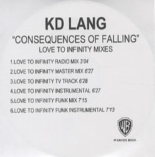 K.D. Lang Consequences Of Falling CD-R acetate UK KDLCRCO316326