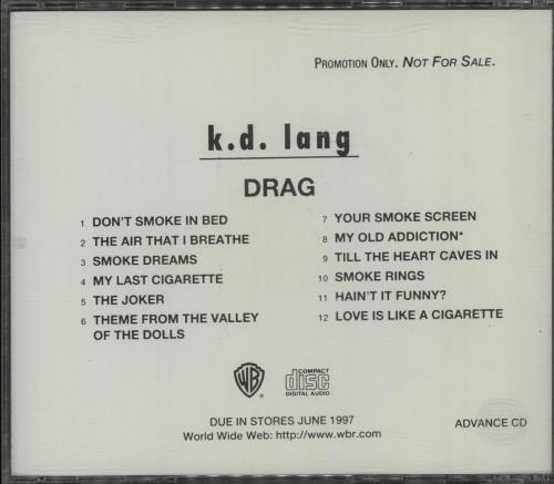 K.D. Lang Drag CD album (CDLP) US KDLCDDR87260