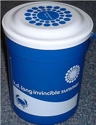 K.D. Lang Invincible Summer Plastic Bucket memorabilia US KDLMMIN270365
