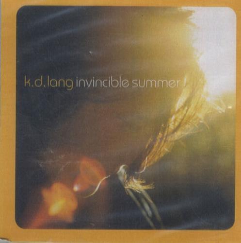 K.D. Lang Invincible Summer CD-R acetate UK KDLCRIN159801