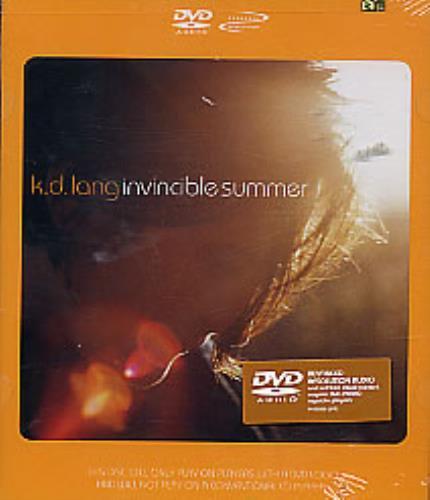 K.D. Lang Invincible Summer DVD-Audio disc US KDLADIN255361
