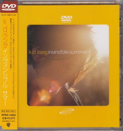 K.D. Lang Invincible Summer DVD-Audio disc Japanese KDLADIN709814