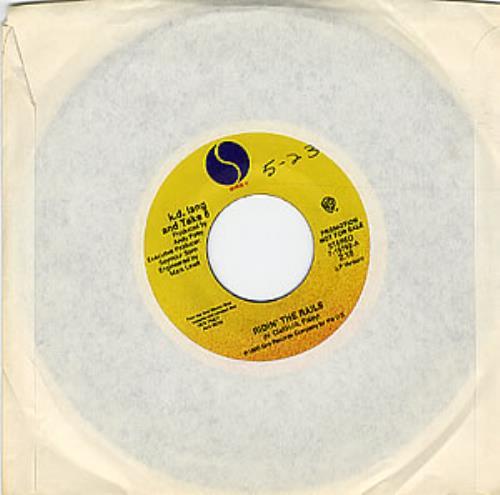 "K.D. Lang Rose Garden 7"" vinyl single (7 inch record) US KDL07RO53426"