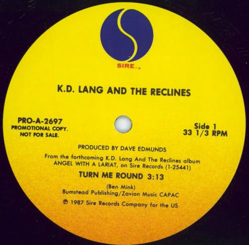 "K.D. Lang Turn Me Round 12"" vinyl single (12 inch record / Maxi-single) US KDL12TU19342"