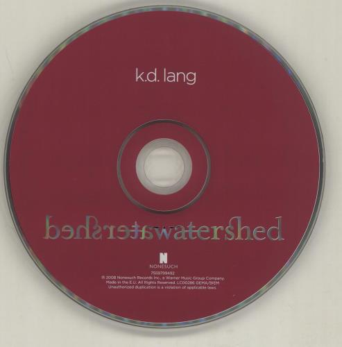 K.D. Lang Watershed - EX 2 CD album set (Double CD) UK KDL2CWA681254