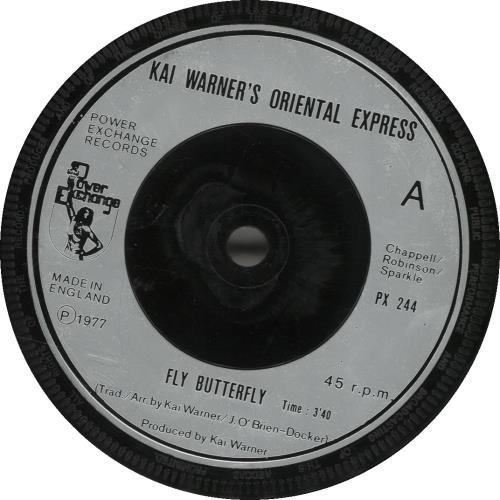 "Kai Warner Fly Butterfly 7"" vinyl single (7 inch record) UK KWT07FL692191"