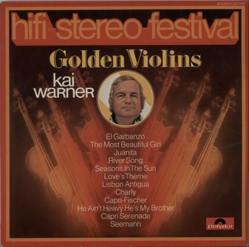 Kai Warner Golden Violins vinyl LP album (LP record) German KWTLPGO604556