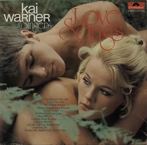 Kai Warner Singers Love Songs vinyl LP album (LP record) German KMILPLO600390