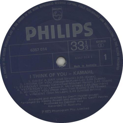 Kamahl I Think Of You vinyl LP album (LP record) Australian KMHLPIT674861