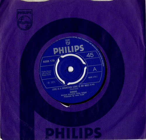 """Kamahl Love Is A Mountain (Love Is My Way) 7"""" vinyl single (7 inch record) UK KMH07LO550747"""