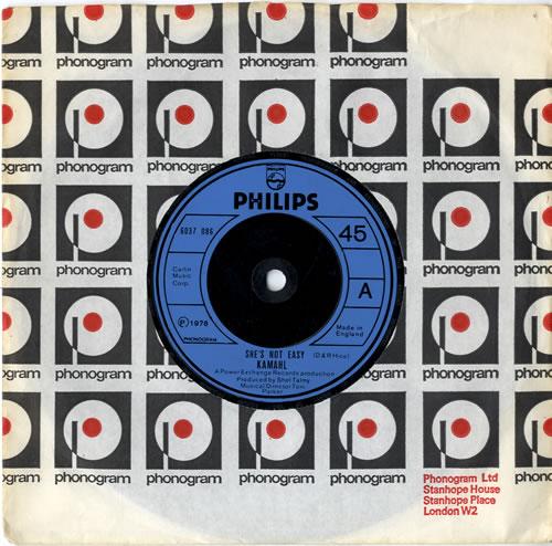 """Kamahl She's Not Easy 7"""" vinyl single (7 inch record) UK KMH07SH614901"""