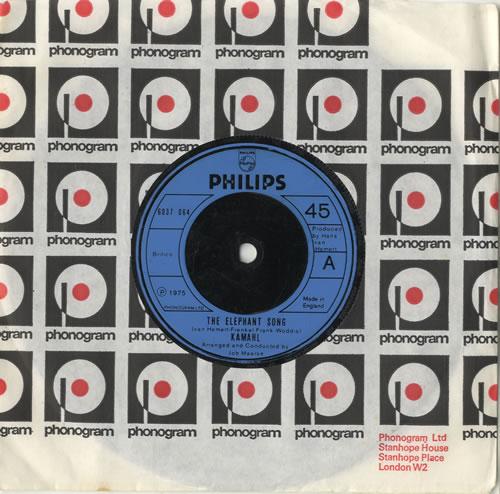 "Kamahl The Elephant Song 7"" vinyl single (7 inch record) UK KMH07TH469843"