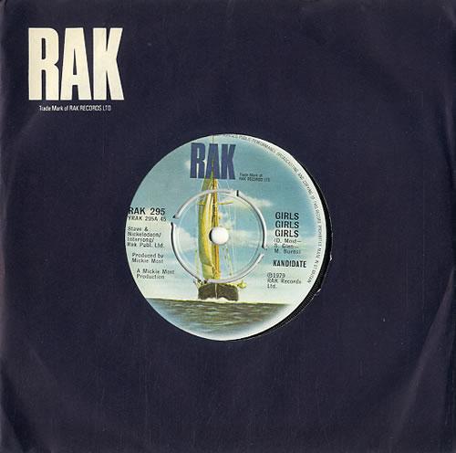 "Kandidate Girls Girls Girls 7"" vinyl single (7 inch record) UK KDT07GI570167"