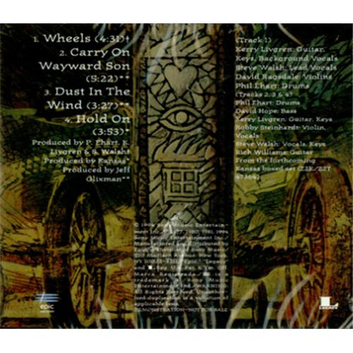 "Kansas Wheels CD single (CD5 / 5"") US KNSC5WH425077"