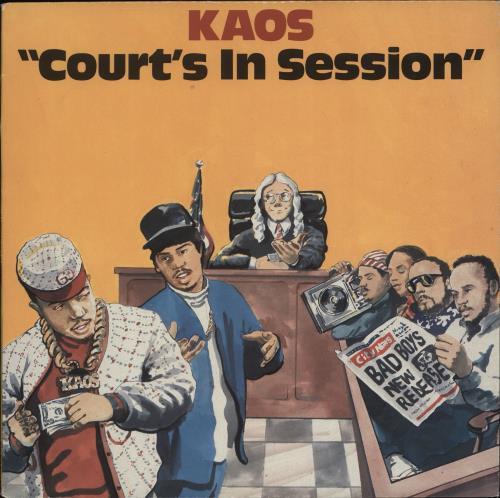 Kaos Court's In Session vinyl LP album (LP record) US K3XLPCO705436
