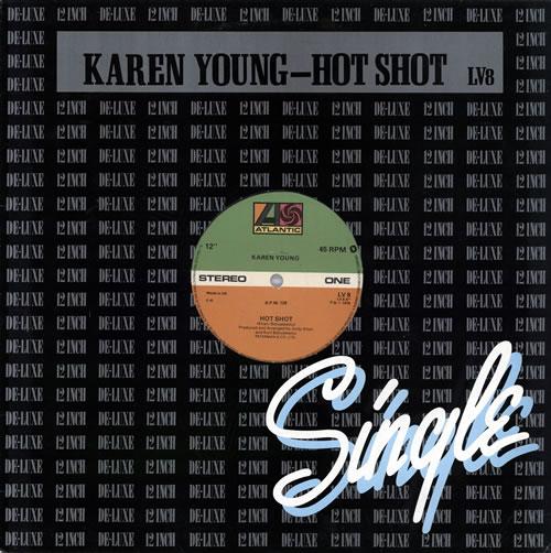 "Karen Young (US) Hot Shot 12"" vinyl single (12 inch record / Maxi-single) UK KQ012HO571180"