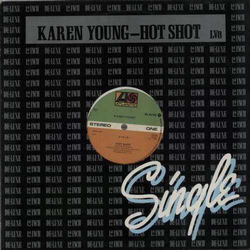 "Karen Young (US) Hot Shot 12"" vinyl single (12 inch record / Maxi-single) UK KQ012HO608466"