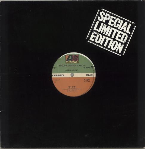 "Karen Young (US) Hot Shot 12"" vinyl single (12 inch record / Maxi-single) UK KQ012HO717306"