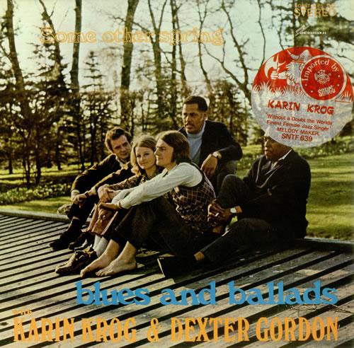 Karin Krog & Dexter Gordon Some Other Spring - Blues And Ballads - stickered p/s vinyl LP album (LP record) Norwegian KD7LPSO442206