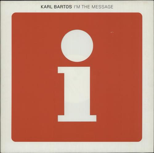 "Karl Bartos I'm The Message 12"" vinyl single (12 inch record / Maxi-single) German KBS12IM256839"