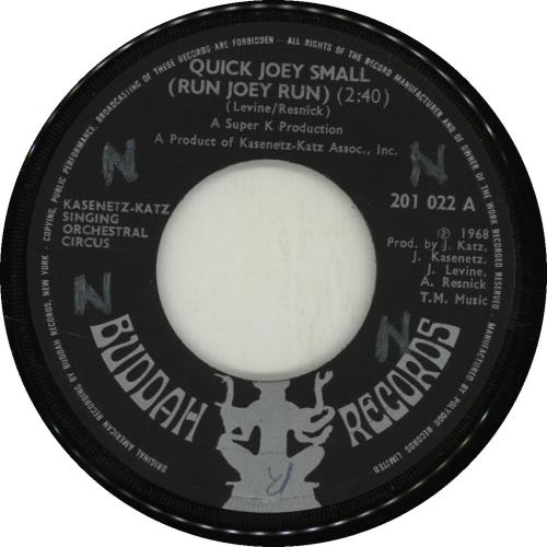 "Kasenetz-Katz Quick Joey Small (Run Joey Run) 7"" vinyl single (7 inch record) UK KGY07QU688134"