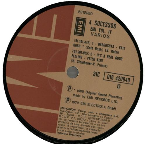 "Kate Bush Babooshka - 4 Sucessos Vol. IV 7"" vinyl single (7 inch record) Brazilian BUS07BA67523"
